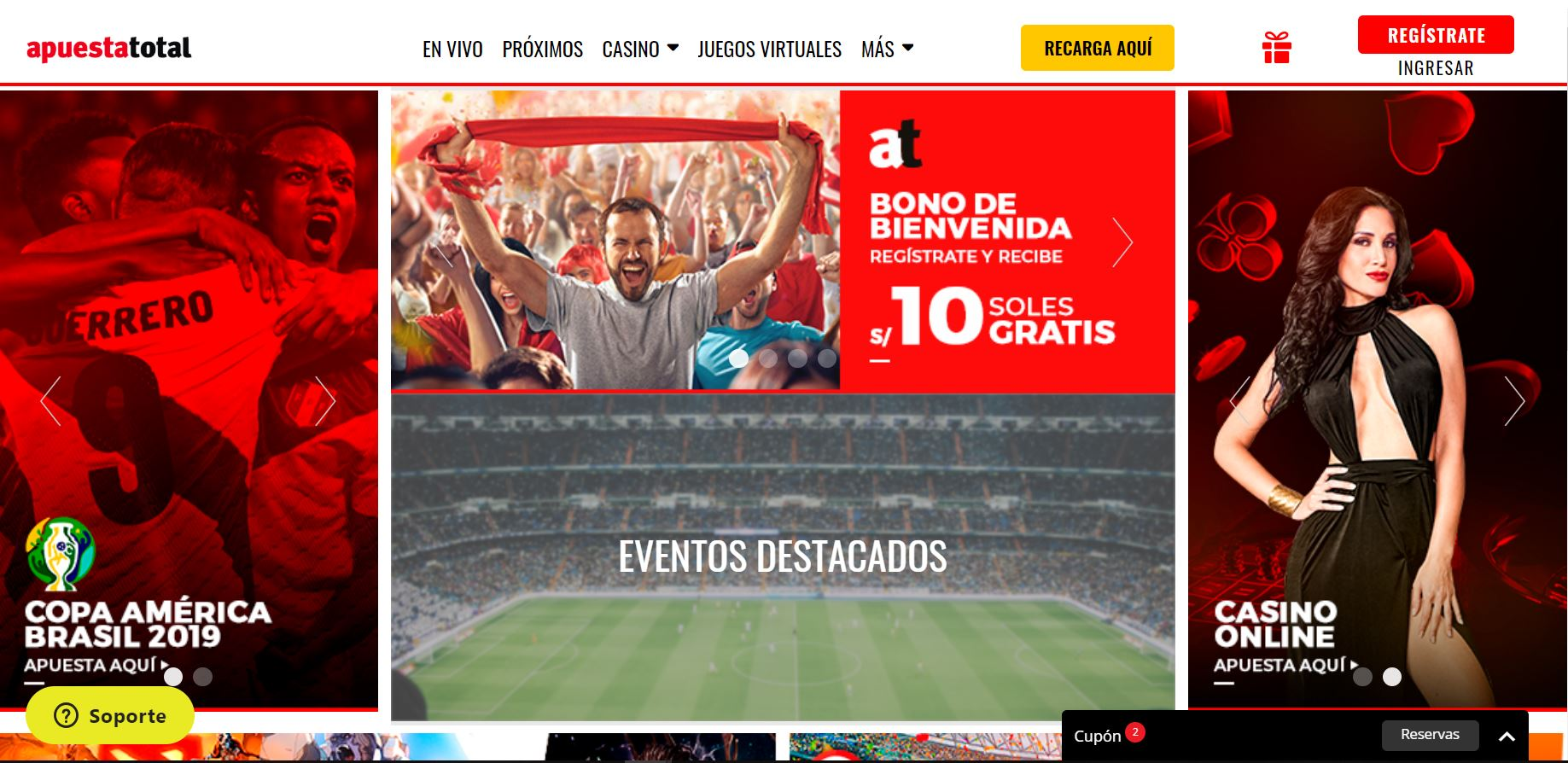 Apuesta total apuestas online Perú