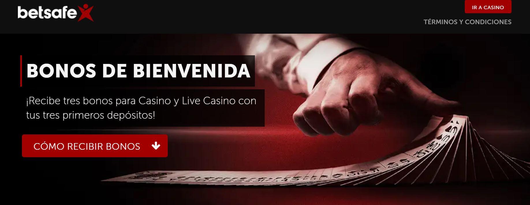 Betsafe bono de bienvenida casino