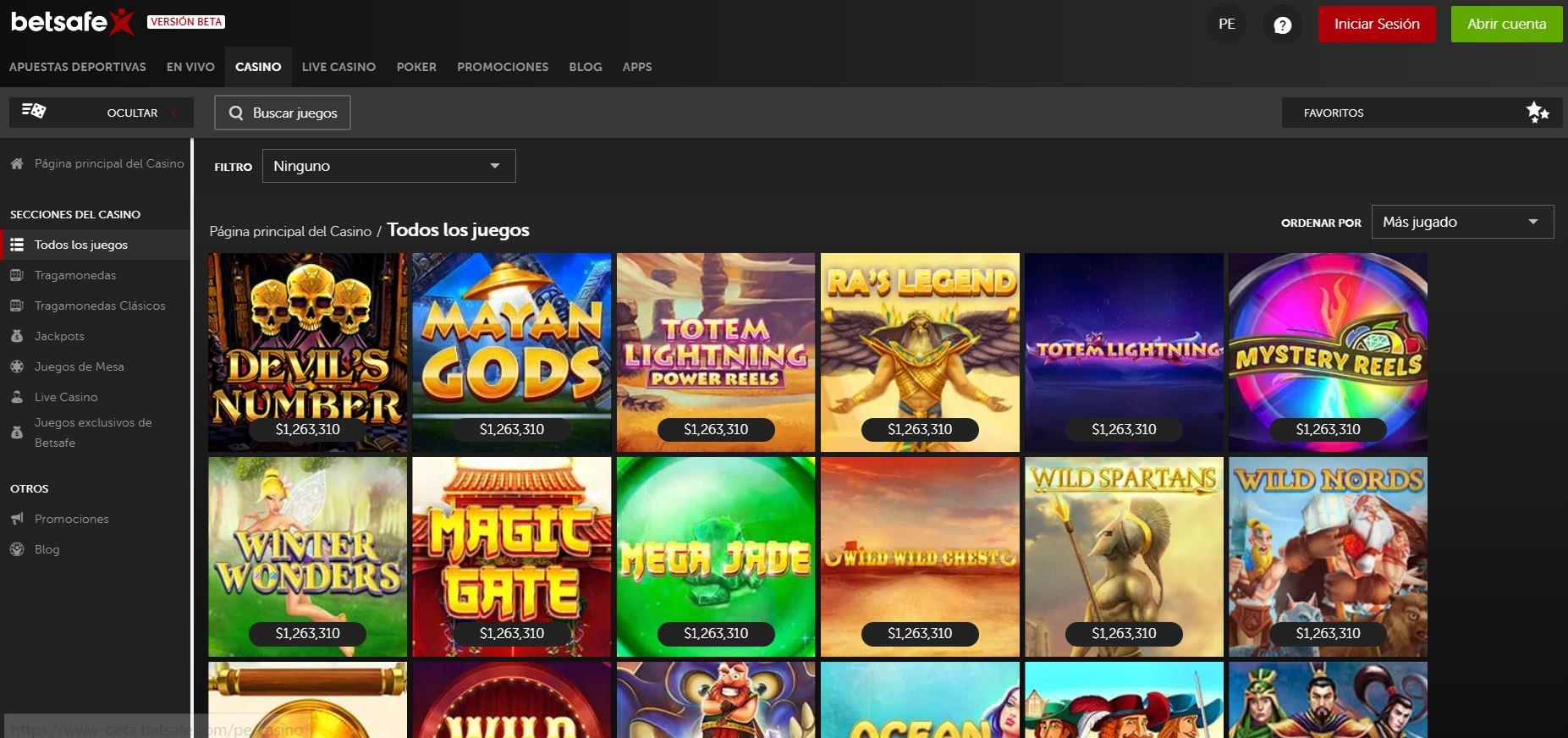 Las mejores casas para jugar casino online - Betsafe