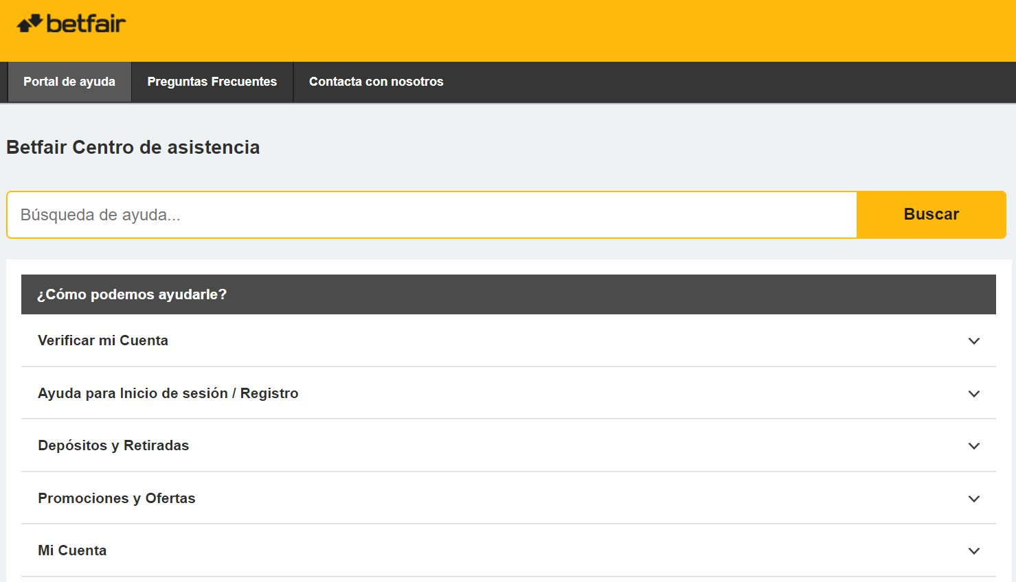 Customer Service Betfair Perú