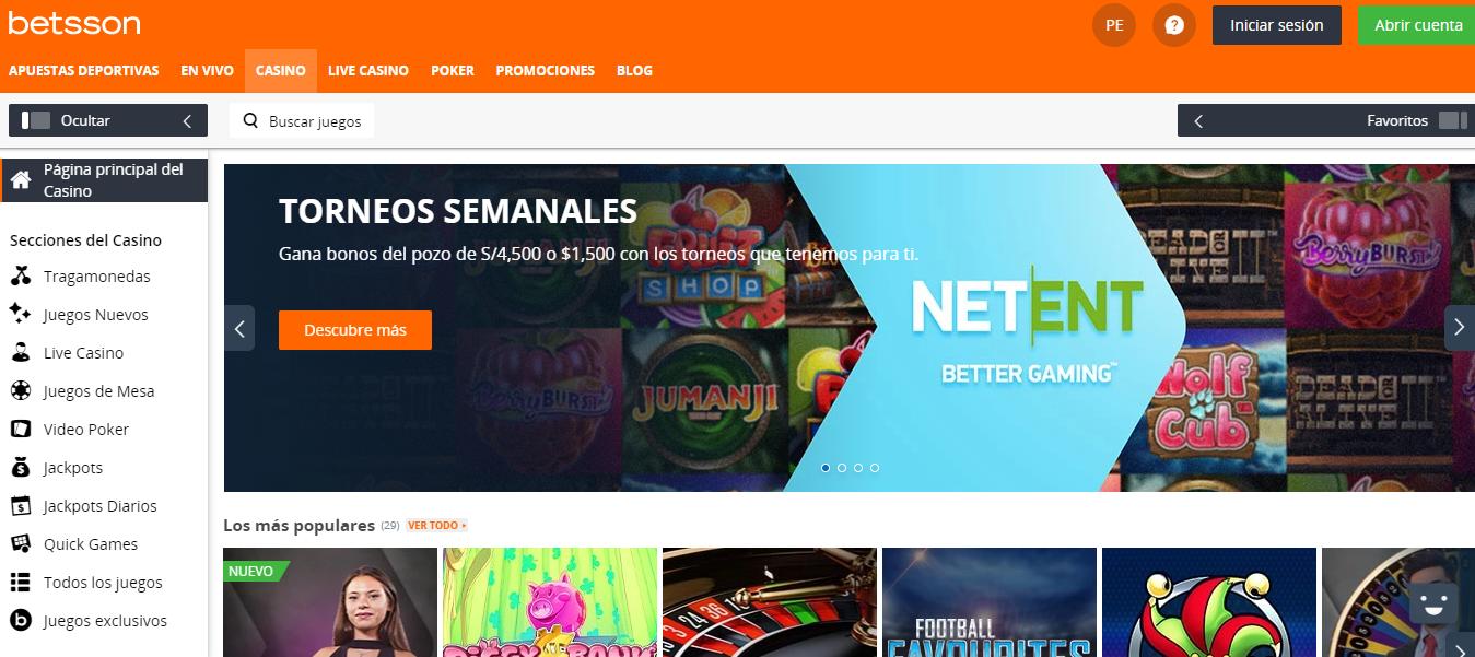Apuestas de Cuarentena en Betsson: ¿Qué opciones hay? > Apuesta a ligas de futbol vigentes, eSports, Casino online, etc.