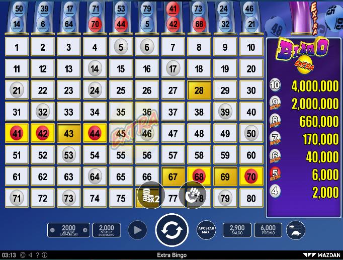 Bingo Online - Escoges tus números y ganas por tus aciertos