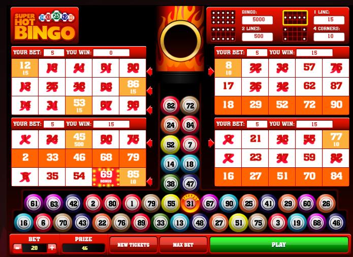 Bingo Online - Escoge tu apuesta, mira los números y paga por bola extra > Juega en Apuesta Total hoy mismo
