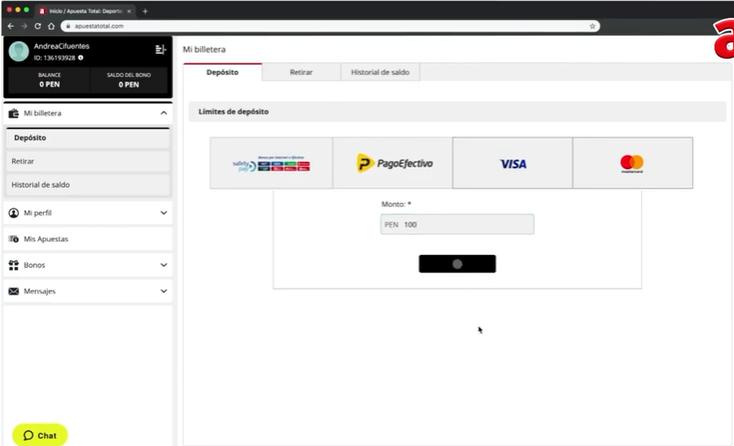 ¿Cómo retirar en Apuesta Total? > Conoce como registrarte, depositar, retirar y hasta elegir tu apuesta en vivo favorito.