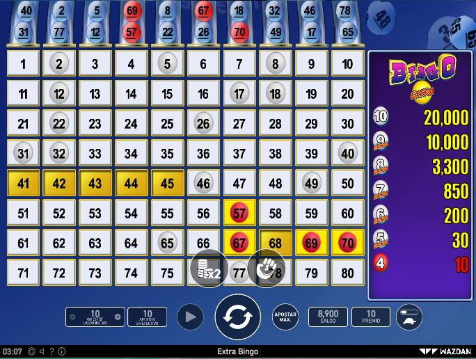 Bingo Online - Escoges tus números y ganas por tus aciertos > Juega en Apuesta Total hoy mismo