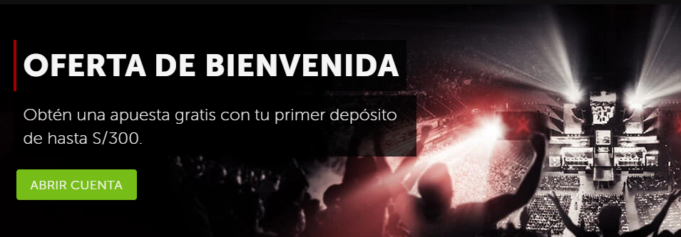 Bono de bienvenida eSports de Betsafe > Obtén hasta S/ 300 para eSports con tu primer depósito y gana muchísimo más.