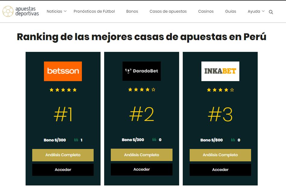 Doradobet sube en el ranking > Conoce como mejoró la casa y por que ahora es la 2da más recomendable